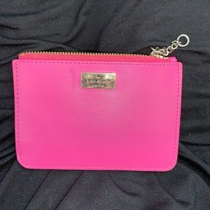 hot pink Kate Spade coin purse